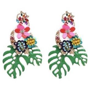 Jewelry - Tropical Palm Statement Earring